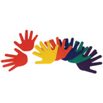 American Education Hand Marker: Assorted Colors, Set of 6 Pairs