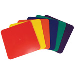 "American Education Marker Square in Polybag: Assorted Colors, 9"", Set of 6"