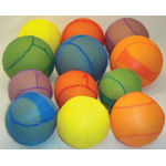 "Yellowtails Mesh Covered Foam Ball: 4"", Set of 6"