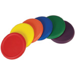 Yellowtails Ultra Soft Foam Frisbees: Assorted Colors, Set of 6 Diameter 8""