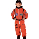 Aeromax Junior Astronaut Suit with Embroidered Cap: Orange, Size 12/14