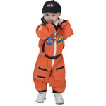 Aeromax Junior Astronaut Suit with Embroidered Cap: Orange, 18 Months
