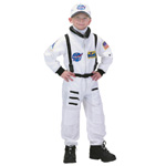 Aeromax Junior Astronaut Suit with Embroidered Cap: White, Size 2/3