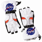 Aeromax Astronaut Gloves: White, Medium Size
