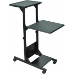 Luxor Adjustable Height Presentation Station: Black