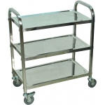 "Luxor 37""H Stainless Steel Cart - Three Shelves"