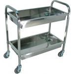 Luxor Stainless Steel Tub Cart 2 Shelves
