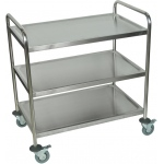 "Luxor 37""H Large Stainless Steel Cart - 3 Shelves"