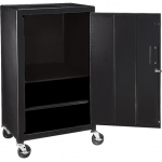 "Luxor Steel Mobile Cabinet: Black, 42"" H"