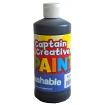 Black 16oz Washable Paint Captain Creative