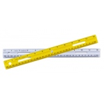 12in Plastic Ruler Assorted Colors