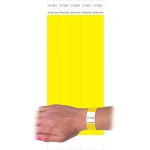 C Line Dupont Tyvek Yellow Security Wristbands 100pk