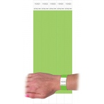 C Line Dupont Tyvek Green Security Wristbands 100pk
