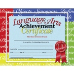 Certificates Language Arts 30/pk 8.5 X 11 Inkjet Laser