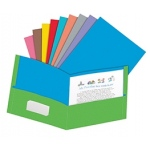 Oxford 50 Ct Twisted Twin Pocket Folders Assorted