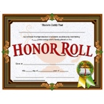 Certificates Honor Roll 30/pk 8.5 X 11 Inkjet Laser