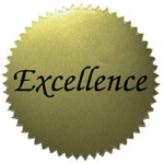 Stickers Gold Excellence 50/pk 2 Diameter