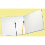 White Hardcover Blank Book 6-1/8 X 8-3/8