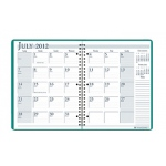 Academic Monthly Planner 8 1/2 X 11 Bright Green Wirebound