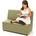Brand New World Enviro-Child Upholstery Furniture: Modern Casual Sofa, Sage