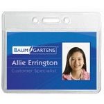 Name Badge Holder Horizontal 12pk