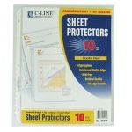 C Line Crystal Clear 10pk Standard Weight Sheet Protectors