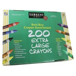 Sargent Art Best Buy Crayon Assortment Jumbo Size 200 Crayons