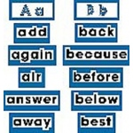 High Frequency Level 2 Word Wall Words