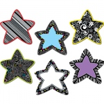 Black And White Stars 6in Designer Cut Outs
