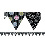 Black And White Pennant Border