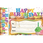 Happy Birthday Cupcakes Bookmark Award