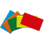 Border Index Cards 3 X 5 Lined Primary Colors 75ct