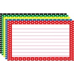 Border Index Cards 3x5 Polka Dot Lined