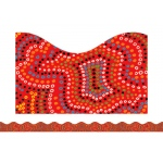 Aboriginal Art Scalloped Trimmer
