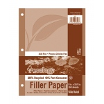 Ecology Recycled Filler Paper Pack Wide Ruled