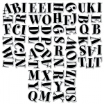 Black Spumoni 2in Letter Stickers