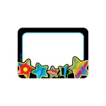 Poppin Patterns Stars Name Tags