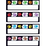 Paw Prints Desk Toppers Name Plates Variety Pk