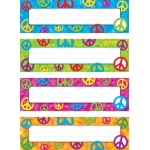 Peace Signs Desk Toppers Name Plates Variety Pk