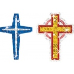 Crosses Sparkle Stickers