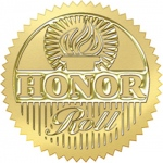 Award Seal Honor Roll Gold