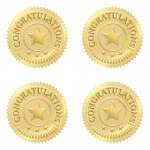 Congratulations Gold Award Seals 32/pk
