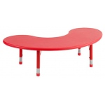 ECR4Kids Kidney Resin Table: Candy Red, 65 Inches