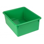 5in Stowaway Letter Box Green No Lid 13 X 10-1/2 X 5