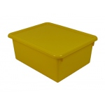 Stowaway Yellow Letter Box With Lid 13 X 10-1/2 X 5
