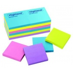 Highland Self-Stick 12 Pads 3 X 3 Removable Notes