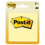 Post-It Notes Canary Yellow 4 Pads 50 Sheets Each
