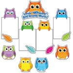 Colorful Owls Good Work Bb Set