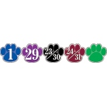 Calendar Days Colorful Paw Prints