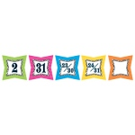 Colorful Zebra Print Calendar Days